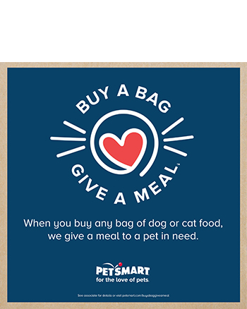 We thank PETSMART for their pet food donations and the Rescue Bank/St. Paws for making this happen!
